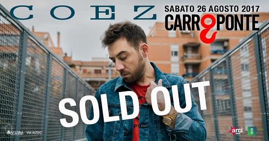 Coez sold out Carroponte